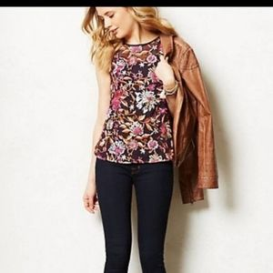 Anthropologie Embroidered Tank Top